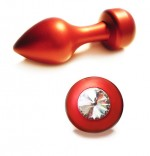Anal Plug - Red Moon - Swarovski Stone - Diamond