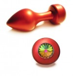 Anal Plug - Red Moon - Swarovski Stone - Colored