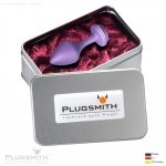 Aluminium Anal Plug - Star medium Purple - MADE WITH SWAROVSKI® ELEMENTS